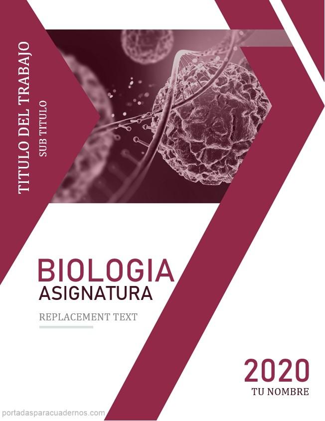 portada de biologia en word