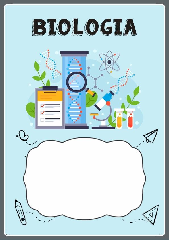 portada para cuaderno de biologia