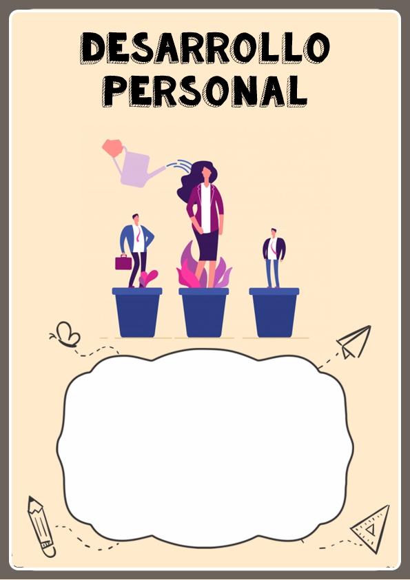 portada para cuaderno de desarrollo personal