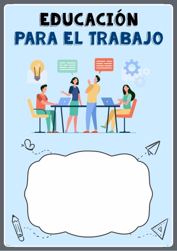 portada para cuaderno de educación para el trabajo