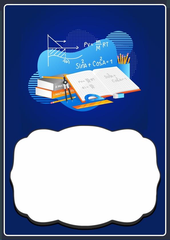 portada para cuaderno de matematica