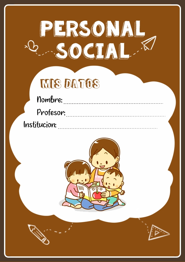 portadas para cuadernos de personal social