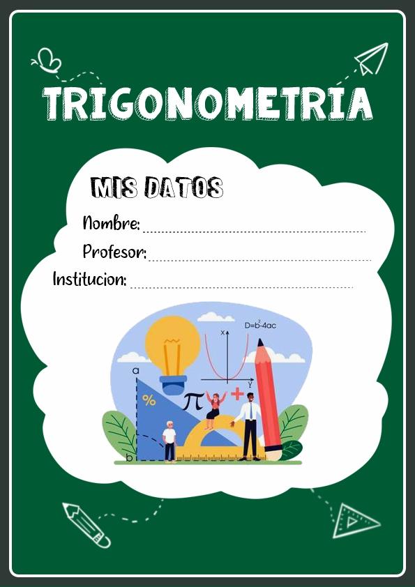 portadas para cuadernos de trigonometria