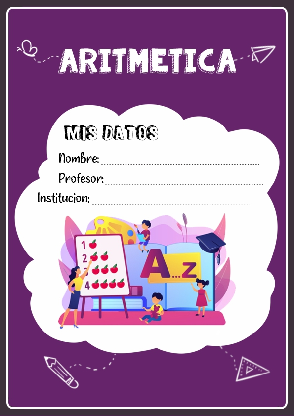 portadas para cuadernos de aritmetica