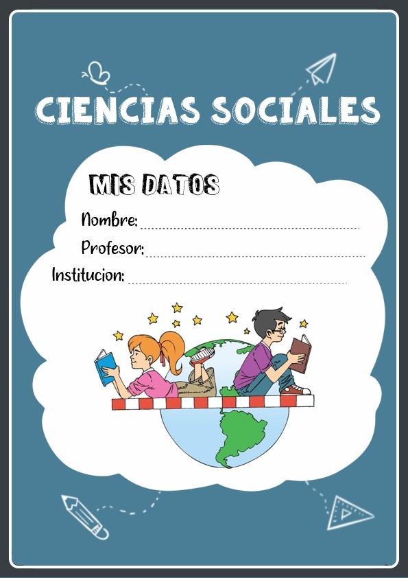 portadas para cuadernos de ciencias sociales