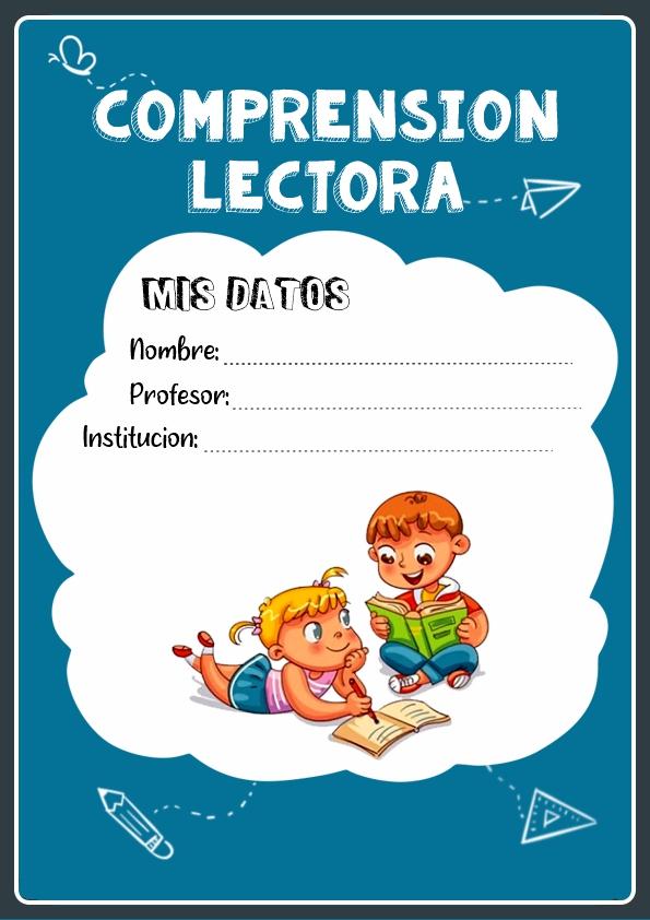 portadas para cuadernos de comprension lectora