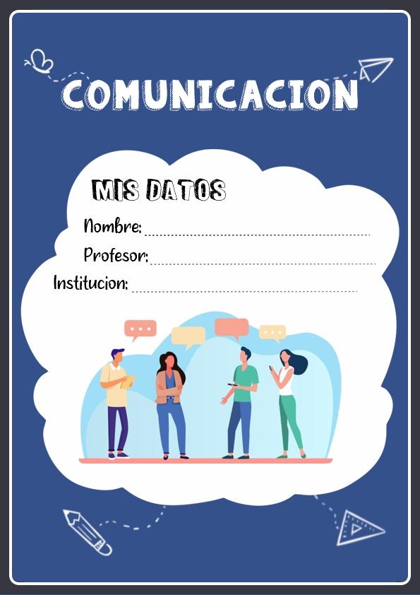 portadas para cuadernos de comunicacion