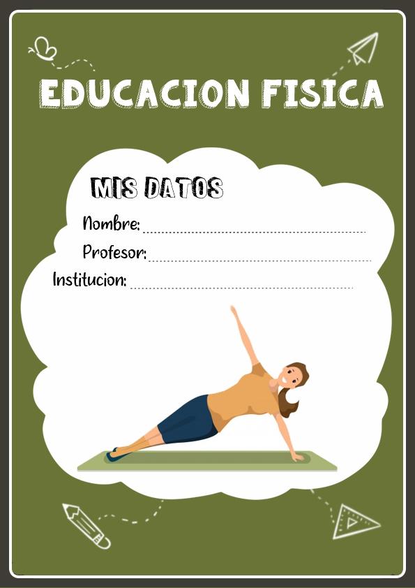 portadas para cuadernos de educacion fisica