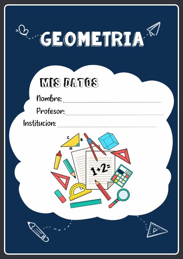 portadas para cuadernos de geometria