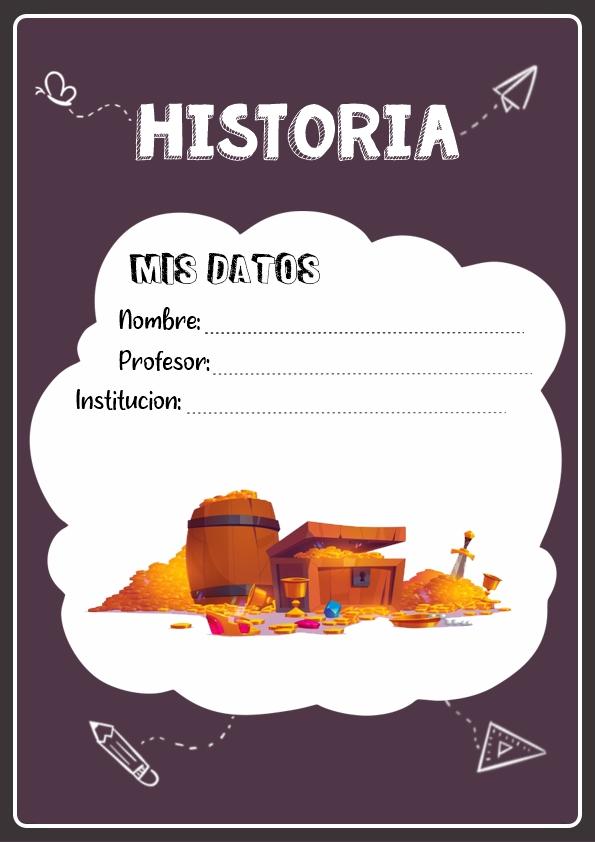 portadas para cuadernos de historia