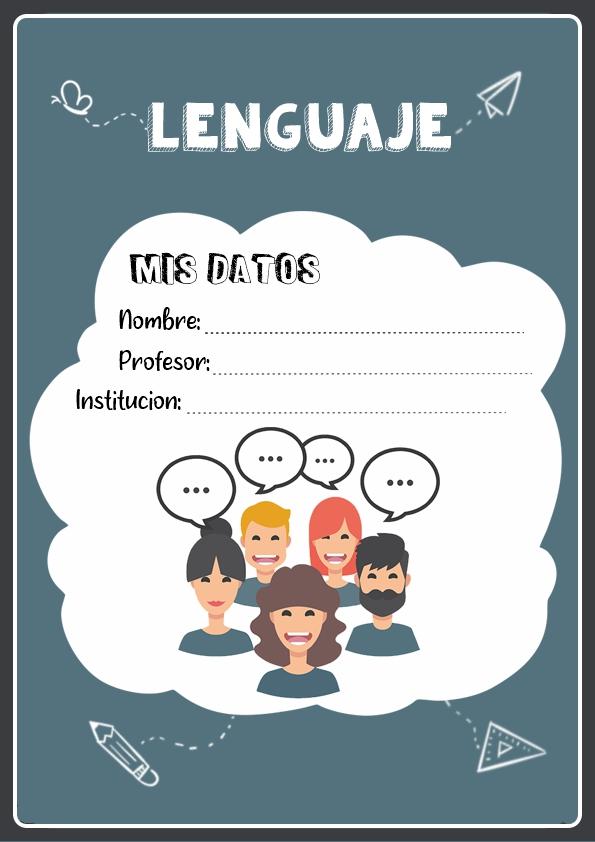 portadas para cuadernos de lenguaje