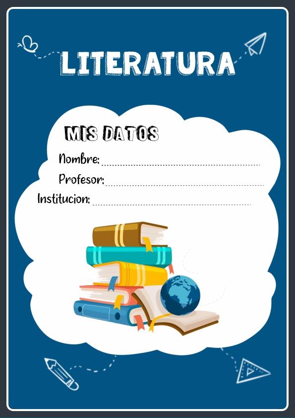 portadas para cuadernos de literatura