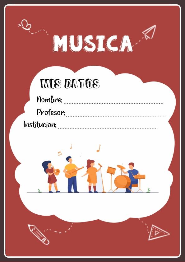 portadas para cuadernos de musica