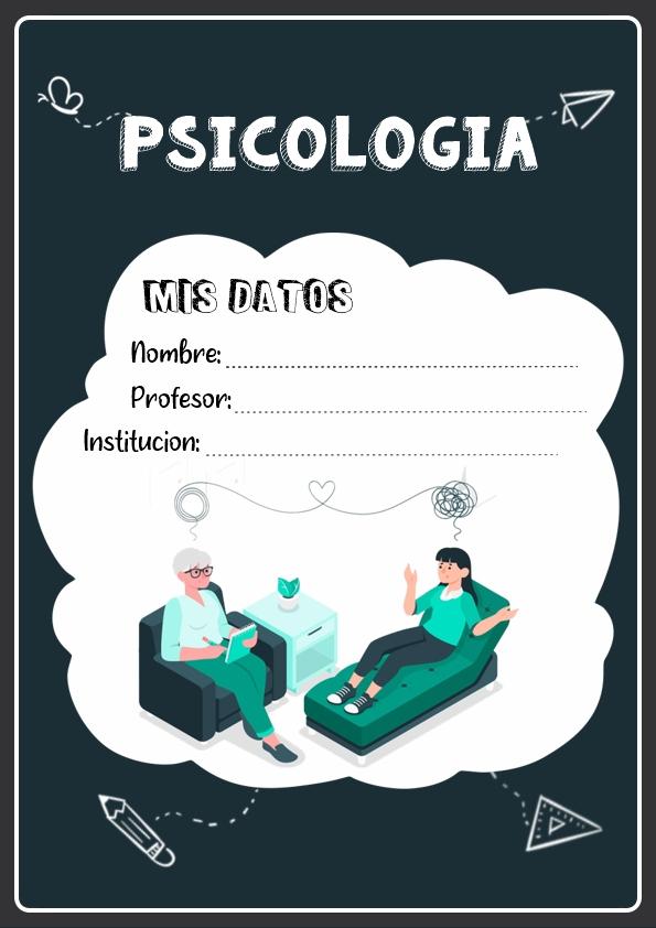 portadas para cuadernos de psicologia