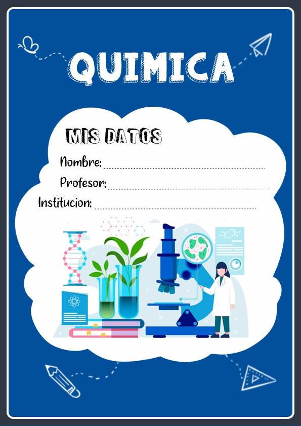 portadas para cuadernos de quimica
