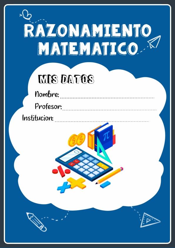 portadas para cuadernos de razonamiento matematico