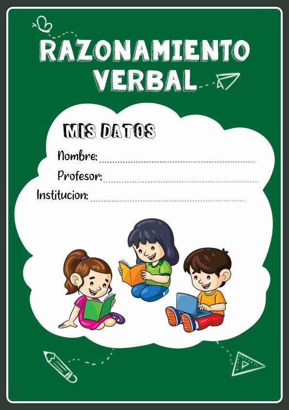 portadas para cuadernos de razonamiento verbal