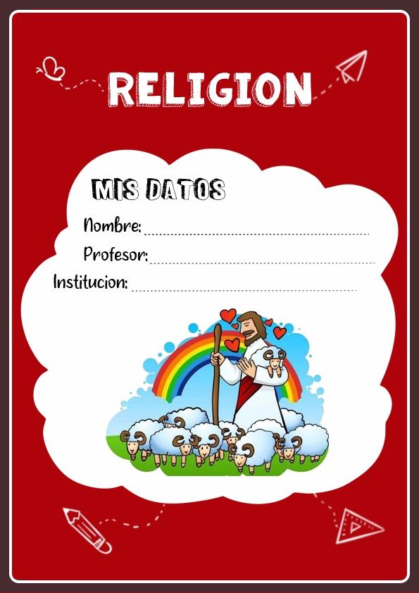 portadas para cuadernos de religion