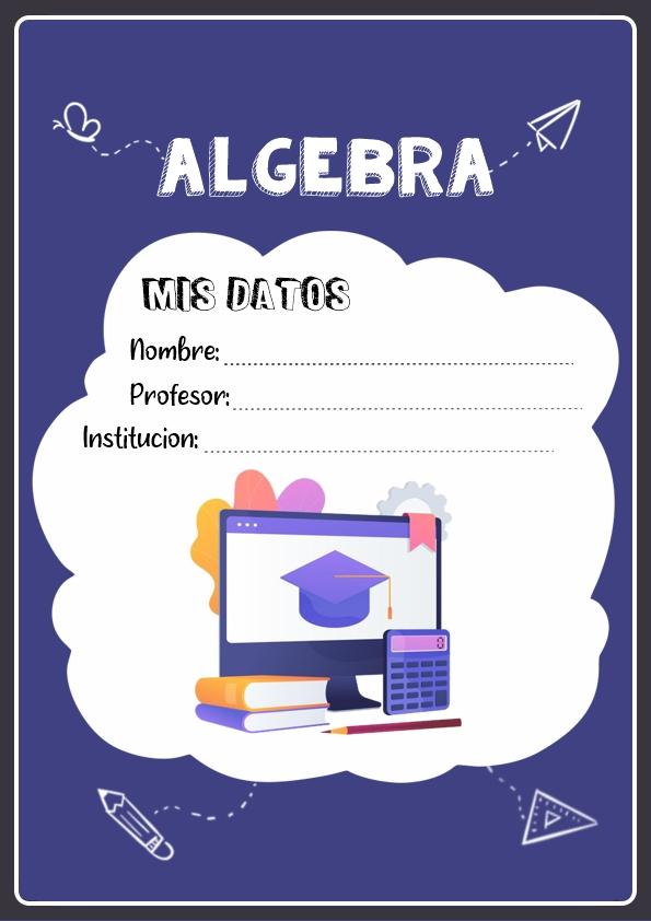 Portadas de Algebra