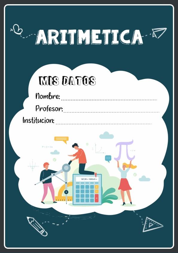 Portadas de Aritmetica